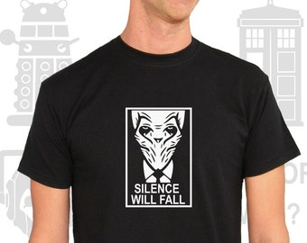 T-shirt Men Short Sleeve Doctor Who? Silence Will Fall