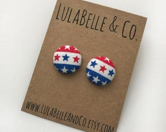 Election Button Earring