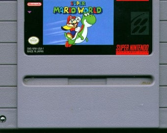 Super Mario World for Super Nintendo SNES- Game Cartridge only- Cleaned and tested