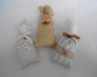 3 mini Lavender sachets of Provence Collection Russian dolls