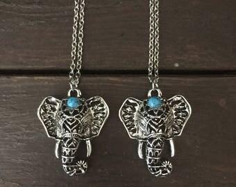 Elephant necklace, Boho Elephant necklace, third eye chakra, chakra necklace, elephant jewelry