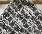 Selfie Time! (Black) Medium Handprinted Knot-wrap