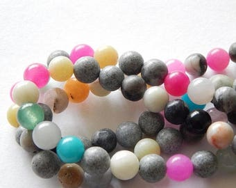 CLEARANCE 8mm Multi Stone Beads
