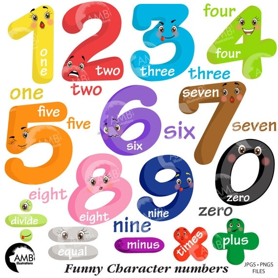 funny emoticon numbers clipart number faces counting numbers rh catchmyparty com numbers clipart images numbers clipart black