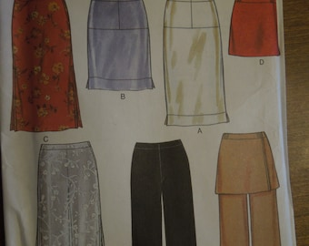 New Look 6920, sizes 8-18, UNCUT sewing pattern, craft supplies, skirts, pants