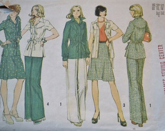 Vintage Simplicity 6191 Sewing Pattern Misses Jacket Skirt Pants Size 16 DIY Sewing Crafts PanchosPorch