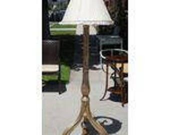 Nancy Corzine La Roche Designer Floor Lamp W White Gold Giltwood