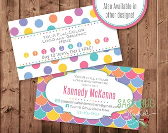 Loyalty Mermaid Business Marketing Cards | Buy 10 Get 1 Free Offer | Loyalty Offer Cards | Personalized | Two-Sided | DIGITAL PRINTABLE