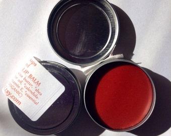 Autumn Red Tinted Lip Balm, Organic Lip Balm, Lip Color, Lips, Vegan, Natural Lip Balm