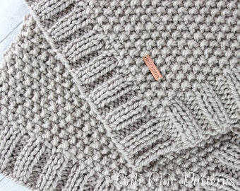 Knitting PATTERN 132 - Manchester- Baby Blanket PATTERN 132 - Knit Blanket Pattern - Instant Download