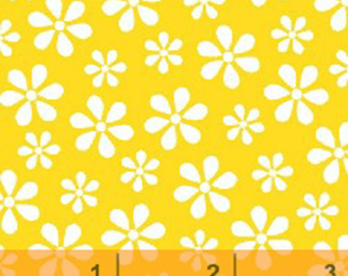 WINDHAM BASICS - BRIGHTS - Daisy in Yellow - Cotton Quilt Fabric - Basic Daisies Floral - by Windham Fabrics - 29399-7 (W3795)