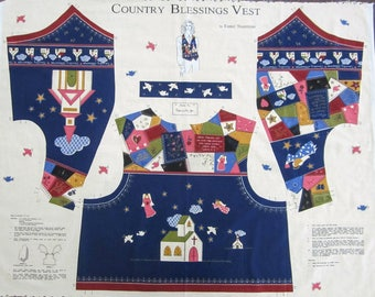Country Blessing Vest Fabric Panel
