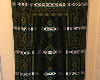 BoHo chic vintage woven wall hanging macrame' 70's MCM