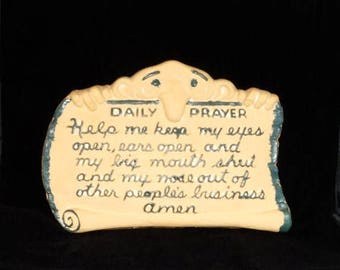 Daily Prayer Plaque Etsy