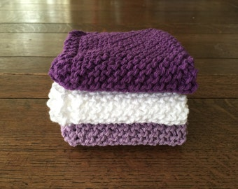 spa wash cloth, dish cloth, knitted cotton washcloth, spa set, gift for her, valentines gift, colorful dishcloth, cooking club, chef gift