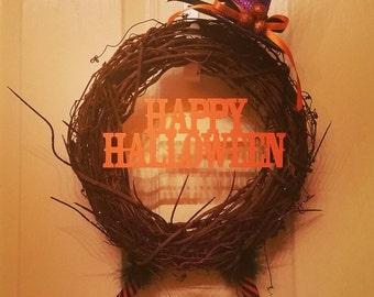 Witch Wreath, Halloween Wreath