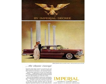 Vintage 1959 newspaper ad for Chrysler Imperial - 17