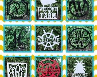 Garden Flag Metal Hangers Maltese Cross Farm Sign Monogram Initial With  Name Aluminum Composite Material