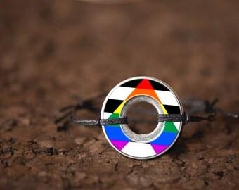 Straight Ally Washer Bracelet