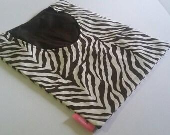 Clothes Pin Bag, Peg Bag, Laundry Bag, Line Dry, Accessories Bag, Toy Organizer, Eco Friendly, Brown Zebra