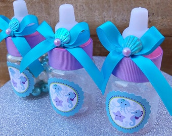 12 Turquoise And Purple Baby Shower  Under The Sea Baby Shower Mermaid Baby  Shower