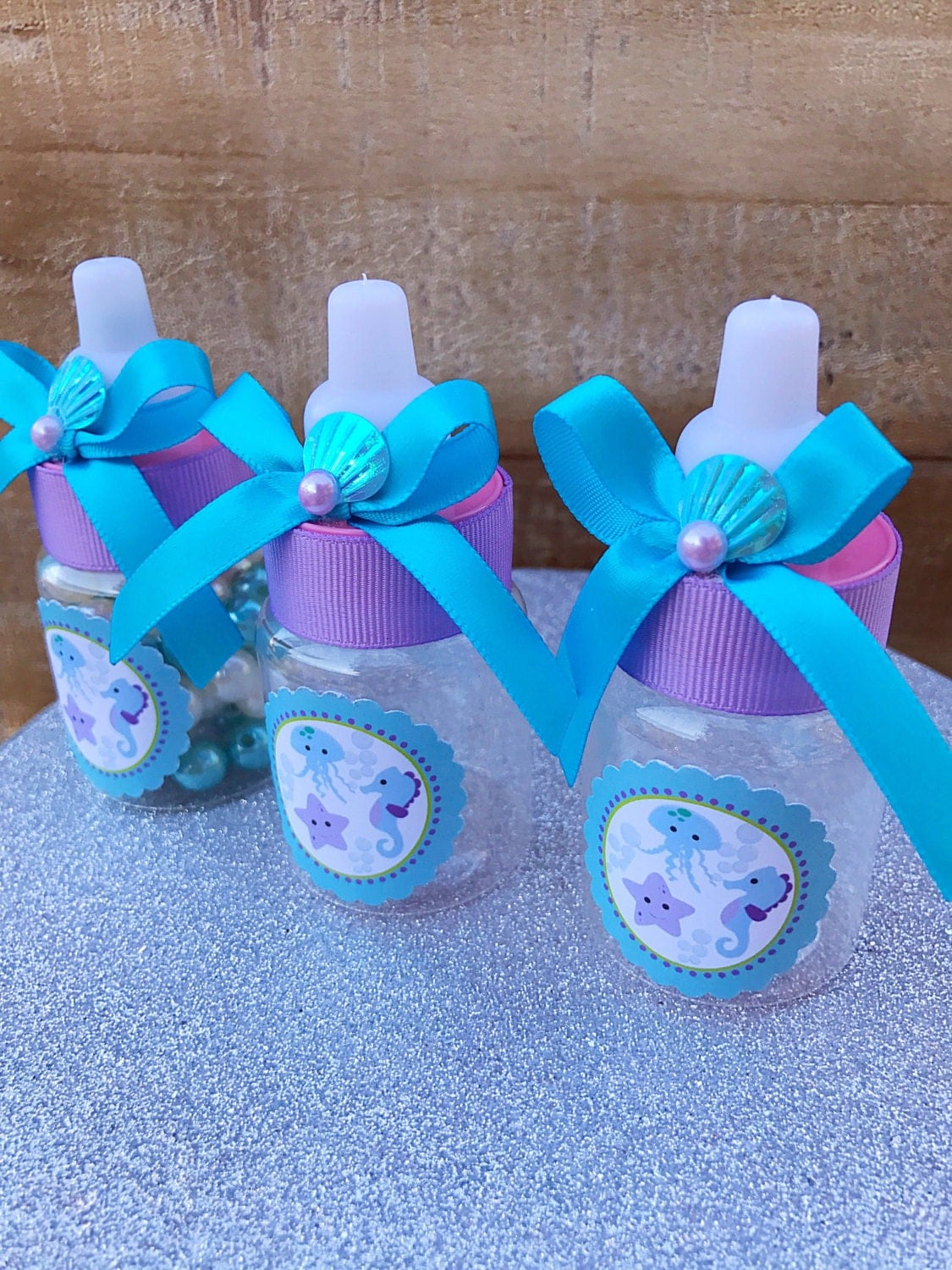 12 turquoise and purple baby shower under the sea baby