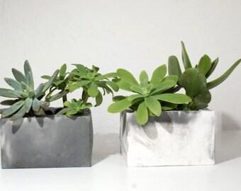 Concrete Planter/ Concrete Box/Succulent Planter/Gray Planters/Wedding Favor/Home Decor/Concrete planters/Marble planters/Gift for her