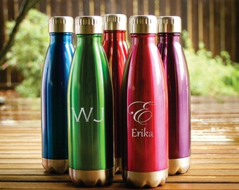 Personalized Water Bottles, Custom Water Bottles, Engraved Logo, Engraved Water Bottles, Groomsman Gift, Bridesmaid Gift
