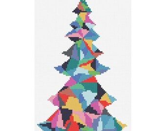 Christmas Tree Cross Stitch Pattern PDF ** Instant Download **