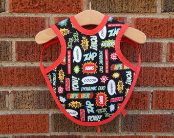 WATERPROOF Baby BiB, Comic book BiB, Nautical Baby BiB, Pop art baby BiB, Reversable BiB