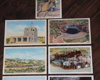 Vintage Carlsbad Caverns National Park Linen Postcard Collection