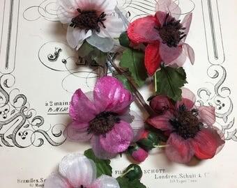 Vintage millinery flower spray