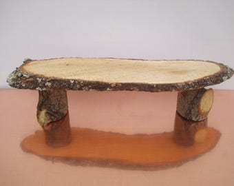 Miniature table in solid oak seasoned real wood rugged natural color, it lasts forever