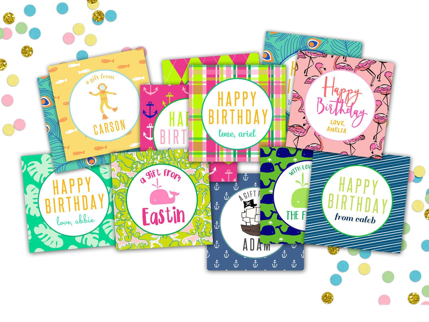 Custom Gift Tags // Personalized Gift Tags for Children ...