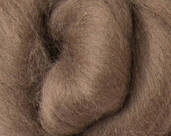 Superfine 14.5 micron Merino Wool Roving/combed top - DHG's Cocoa    - 4 ounces