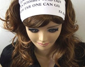 RESERVE LISTING FOR MyMimmy - T.S. Eliot Quote Headband