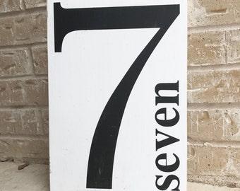 Custom Number Vinyl STENCIL ONLY