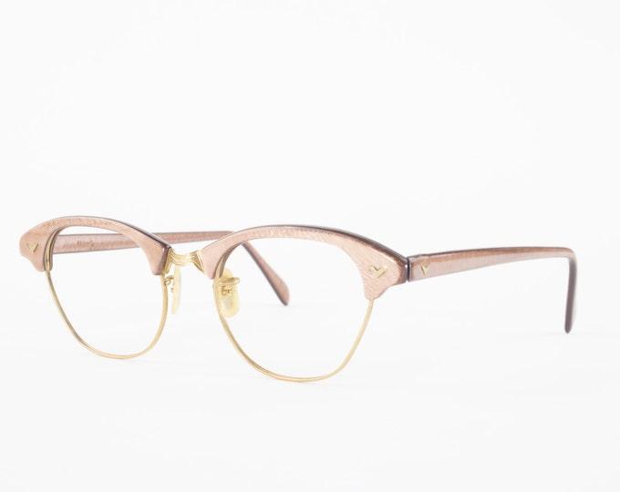 Vintage 50s Eyeglasses | 1950s 12k Gold Filled Horn Rimmed Glasses | NOS Eyeglass Frame | Deadstock Eyewear - McCobb