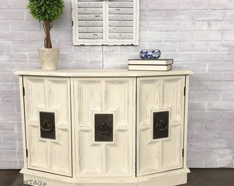 AVAILABLE: White Painted Entryway Table