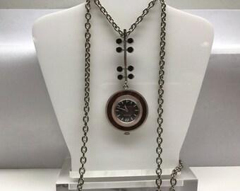 Bulova Vintage Modernist Necklace Watch