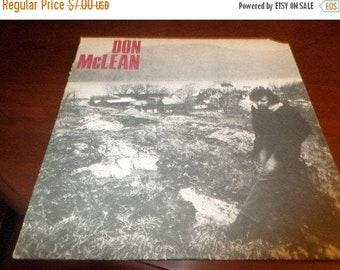 Save 30% Today Vintage 1972 LP Record Don McLean Self Titled Excellent Condition  United Artists UAS-5651