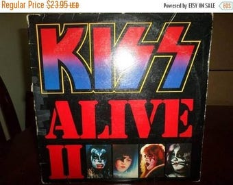 Save 30% Today Vintage 1977 LP Record Kiss Alive II Casablanca Records Two Record Set Very Good Condition 6991