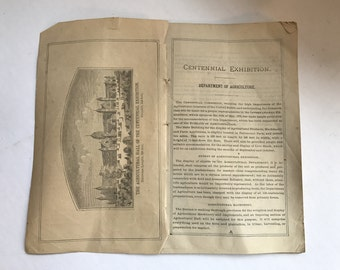 Antique 1876 Farmers Almanac (Missing Cover)