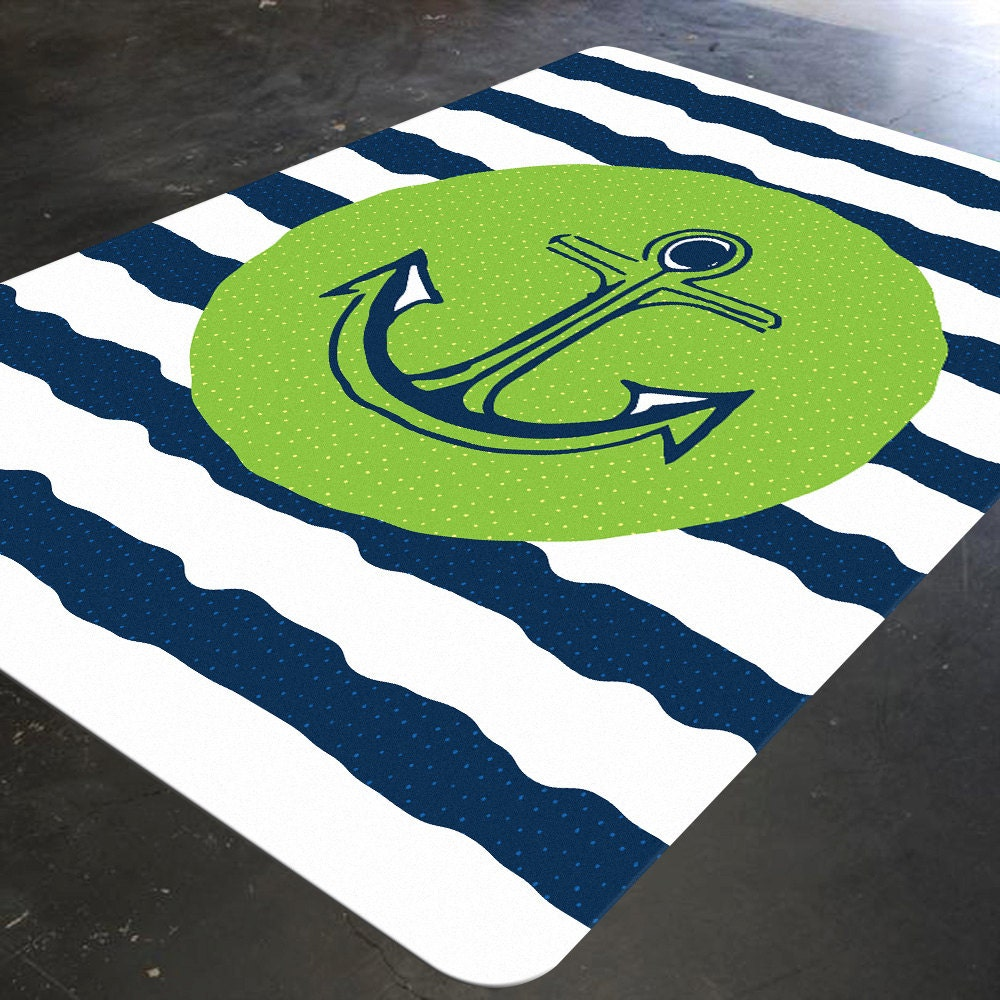 Anchor Rugs: Anchor Rug Childrens Rugs Nautical Rug Christmas Gifts For