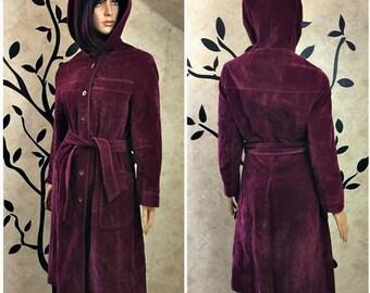 Leather coat, Leather jacket, Long winter coat, Women's size small coat, Winter coat, Warm jacket, Women's winter coat