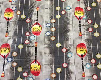 Rock Band/Guitar Hero/Guitar Fabric -  Quilting Cotton - [[fat quarter//half hard//by the yard]]