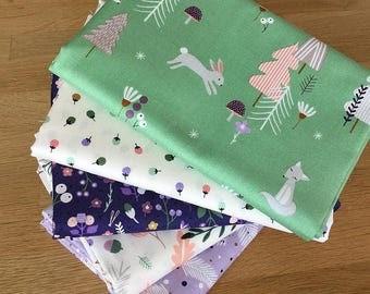 FOREST TALK Fat Quarter Bundle {B} by Makower Fabrics