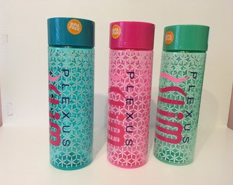 Plexus Slim 30oz. Flower Design Plastic Water Bottle