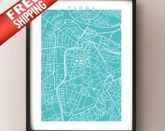 Padua Italy Map Print - Padova, Italia