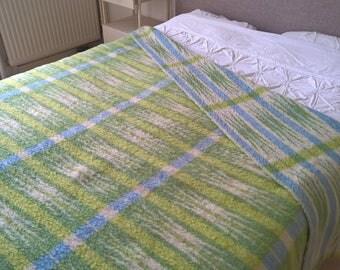 """Dutch vintage mid-centuries wool blanket De Nederlandse Wolfederatie 78,7 """"inch /96,5 inch"""